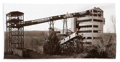 The Dorrance Coal Breaker Wilkes Barre Pennsylvania 1983 Beach Towel