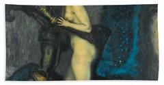 Beach Towel featuring the painting The Dragon Slayer by Franz von Stuck