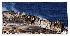The Dragons Teeth II Beach Sheet by Patricia Griffin Brett