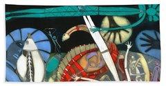 The Dream Of The Fish Beach Towel by Annael Anelia Pavlova