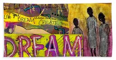 The Dream Trio Beach Sheet by Angela L Walker