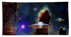 The  Eagle  Nebula  Beach Towel by Hartmut Jager