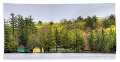 The Early Greens Of Spring Beach Towel by David Patterson
