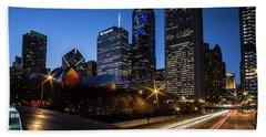 The East Side Skyline Of Chicago  Beach Sheet