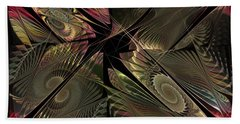 Beach Towel featuring the digital art The Elementals - Calling The Corners by NirvanaBlues