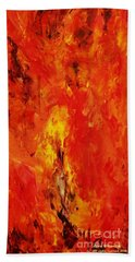 The Elements Fire #1 Beach Towel