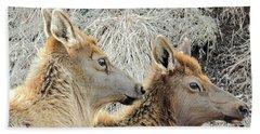 The Elk Of Winter  Beach Towel