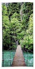 The Emerald Crossing Beach Towel