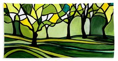 The Emerald Glass Forest Beach Towel