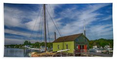 The Emma C. Berry, Mystic Seaport Museum Beach Towel