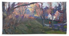 The End Of Autumn Day In Glen Williams On Beach Towel