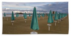 The End Of The Season In Rimini Beach Towel