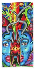 The Esoteric Force Of Molecular Mentality Beach Towel