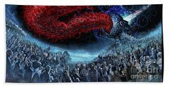 The Essence Of Time Matches No Flesh Beach Towel