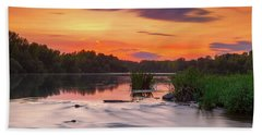 The Eve On The River Beach Towel