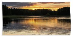 The Evening Came Softly With The Sunset Beach Towel