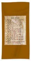 The Everlasting Dog Rules Beach Sheet