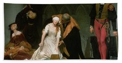 The Execution Of Lady Jane Grey Beach Sheet by Hippolyte Delaroche