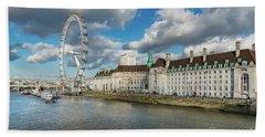 The Eye London Beach Towel by Adrian Evans