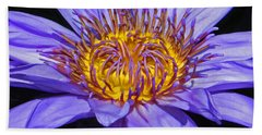 The Eye Of The Water Lily Beach Towel by Emmy Marie Vickers