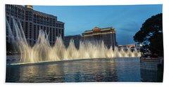 The Fabulous Fountains At Bellagio - Las Vegas Beach Towel