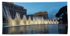 The Fabulous Fountains At Bellagio - Las Vegas Beach Sheet