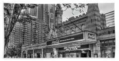 The Fabulous Fox Theatre Bw Atlanta Georgia Art Beach Towel