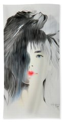 The Face - Digitalart Beach Towel