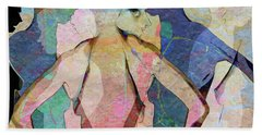 The Face In The Crowd Beach Towel by Ed Hall