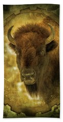 The Face Of Tatanka Beach Towel