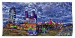 Beach Towel featuring the photograph The Fair by Dave Luebbert