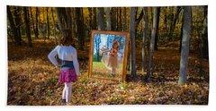 The Fairy In The Mirror Beach Towel