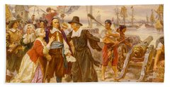 The Fall Of New Amsterdam Beach Towel