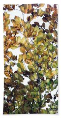 Beach Towel featuring the photograph The Fall by Rebecca Harman