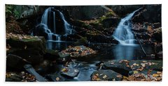 The Falls Of Black Creek In Autumn IIi Beach Sheet