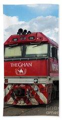 The Famed Ghan Train  Beach Sheet