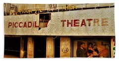 The Famous Beirut Picadilly Theater  Beach Towel