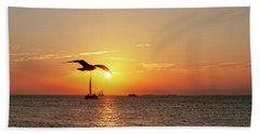 The Famous Key West Sunset  Beach Towel
