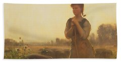 The Farm Girl Beach Towel by Arthur Hacker