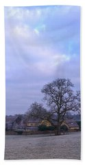 Beach Towel featuring the photograph The Farm In Winter by Anne Kotan