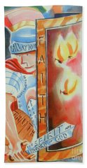 Beach Towel featuring the painting The Fiery Darts Of The Evil One 3 by Kip DeVore