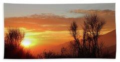 The Fire Of Sunset Beach Towel