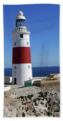 The First And Last Lighthouse On The Continent Of Europe Beach Towel
