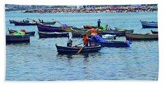 Beach Sheet featuring the photograph The Fishermen - Miraflores, Peru by Mary Machare