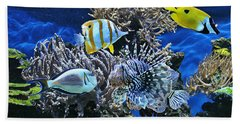 The Fishes Know Everything Beach Towel