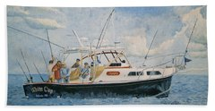 The Fishing Charter - Cape Cod Bay Beach Towel