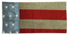 Beach Towel featuring the photograph The Flag by Tom Prendergast