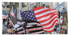 The Flags Of Heroes Beach Towel