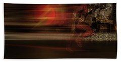 Beach Towel featuring the digital art The Flash  by Louis Ferreira