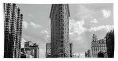 The Flatiron Building New York Beach Towel